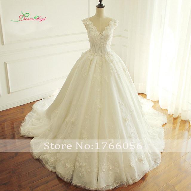 Vintage Wedding Dress with Flowers