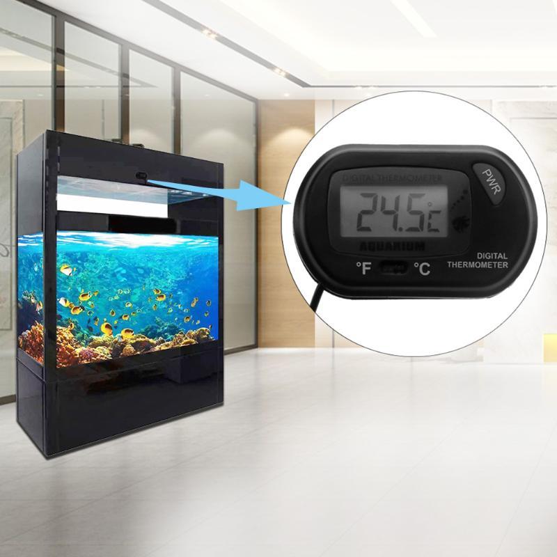 Digital Thermometer Electronic Aquarium Swimming Pool Temperature Meter Waterproof LCD Reptile Temperature Tester