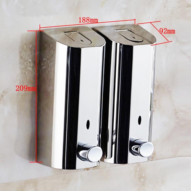 500mlx3 Hand Wall Mount Soap Dispenser Wall Liquid Soap