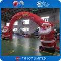 Бесплатная доставка! 7 х 4 м надувные рождество арки, на заказ надувные арки, надувной санта клаус арки