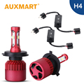 Auxmart H4 Car LED Headlight Kit 9003 HB2 80W/Set SMD CREE Chips High Dipped Low Beam Fog Light Head Lamp Bulb Canbus Free Error