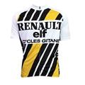2016 новый мужчины/женская Renault elf желтый/белый велоспорт джерси классический велосипед рубашка мальчика уникальный езда одежда/одежды