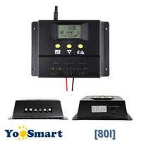80A Solare Regolatore di Carica 12V 24V 1000W 2000W Pannello Solare LCD schermo di Visualizzazione Dello Schermo PWM di Ricarica per off Grid PV Regolatore Solare