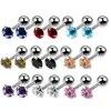 SWANJO Pair 16G Steel Ear Cartiliage Tragus Zricon Helix Earring Stud Rings Piercing Barbell Lip Rings Labret Monroe Jewelry