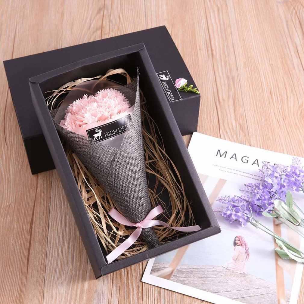 Романтические искусственные мыло в виде цветов розы розового свет для свадебного стола небольшие подарки для гостей вечера, праздника в знак признательности за визит Святого Валентина подарки украшения комнаты 2019