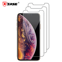 ZRSE [3 PACK] กระจกนิรภัยหน้าจอป้องกันสำหรับ iPhone X iPhone XS iPhone XS MAX XR 11 PRO MAX 5 6 S 7 8 PLUS(China)