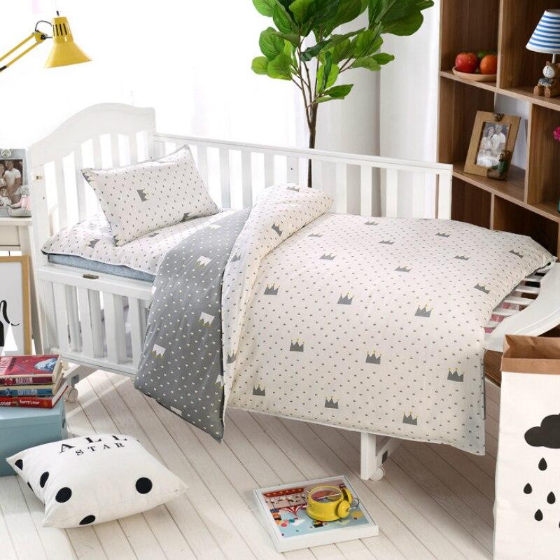 100 Cottotton 3pcs Set Baby Bedding Set Pillow Case Bed