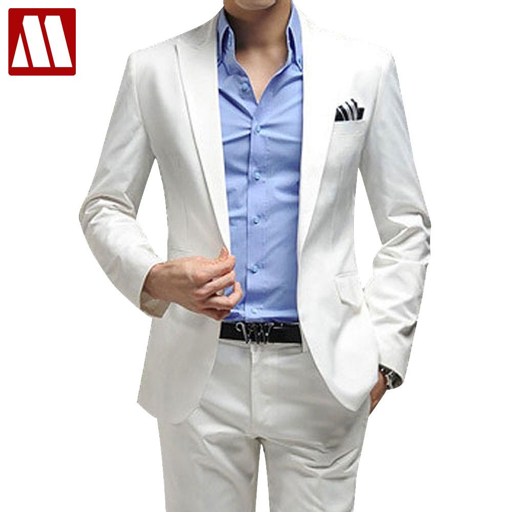38d0615060c Online Get Cheap Slim Fit White Suit Pants -Aliexpress.com