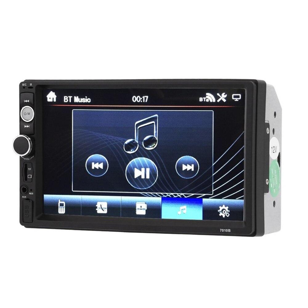 Promotion! 2018 Nouveau 7010B 7 pouce Bluetooth V2.0 Voiture Audio Stéréo Écran Tactile MP5 Lecteur