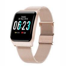 Smart Watch band F9 Waterproof IP68 Call Message Reminder Ultra-long Standby Sport Steel strip Business цены онлайн