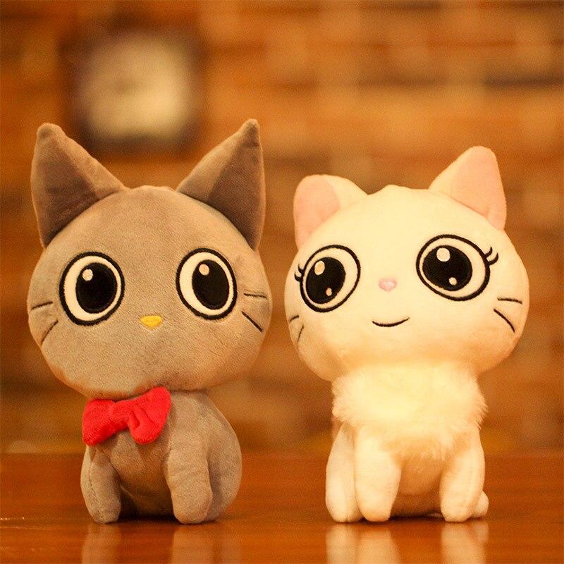 Icottbaby 23 см немного сидит кошка плюшевые игрушки мягкие Кот чучело Игрушечные лошадки Kawaii Куклы для малышей подарок на день рождения