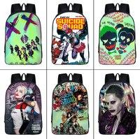 DC Suicide Squad Harley Quinn Nylon Backpack Teenager Student Schoolbag Joker Casual Knapsack Zipper Bookbag Fashion Travel bag