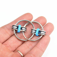 2017 New 1pcs Key Ring Hand Spinner Tri-Spinner Reduce Stress EDC Fidget Toy For Autism ADHD