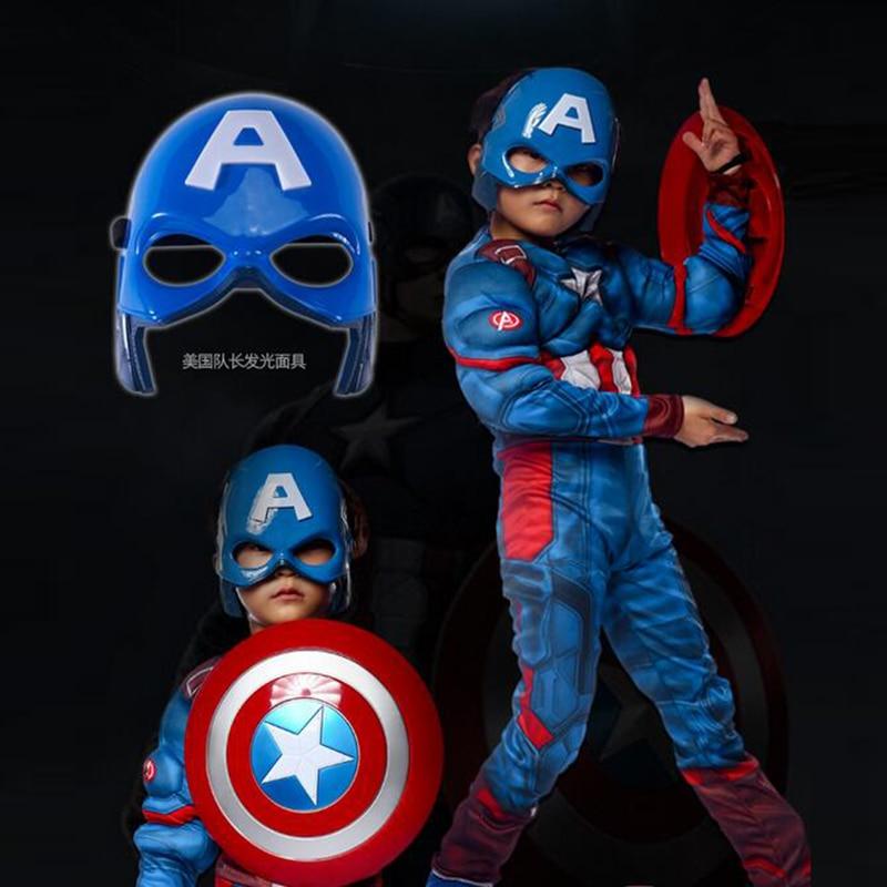 Superhero Kids Muscle Captain America Kostym Avengers Child Cosplay - Nye produkter - Bilde 4