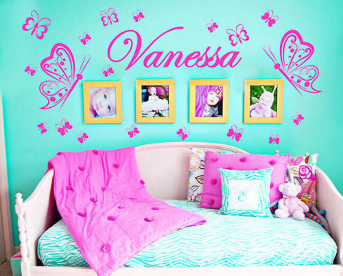 Mariposa personalizada DIY vinilo decorativo mariposas moda del arte ...
