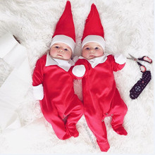 dffe86e53ae5 Kids Infant Baby Boys Girls Clothes Christmas Elf Santa Claus Cosplay  Costume Cute Long Sleeve Romper