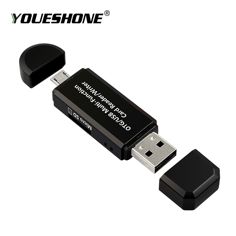 Black Micro USB OTG to USB 2.0 Adapter SD Card Reader For Android Phone Tablet