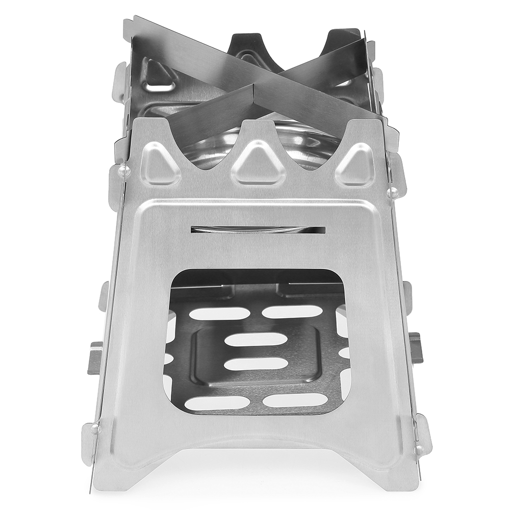Image 2 - Outdoor Camping Stove Portable Folding Backpacking Wood Stove with Alcohol Tray for Camping Fishing Hiking-in Outdoor Stoves from Sports & Entertainment