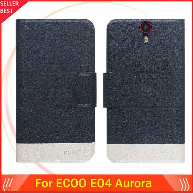 5 Renkler Sıcak!! ECOO E04 Aurora Kılıf Ultra-İnce Kapak Lüks Moda Deri Özel Telefon Kapak Kart Yuvaları Ücretsiz Kargo