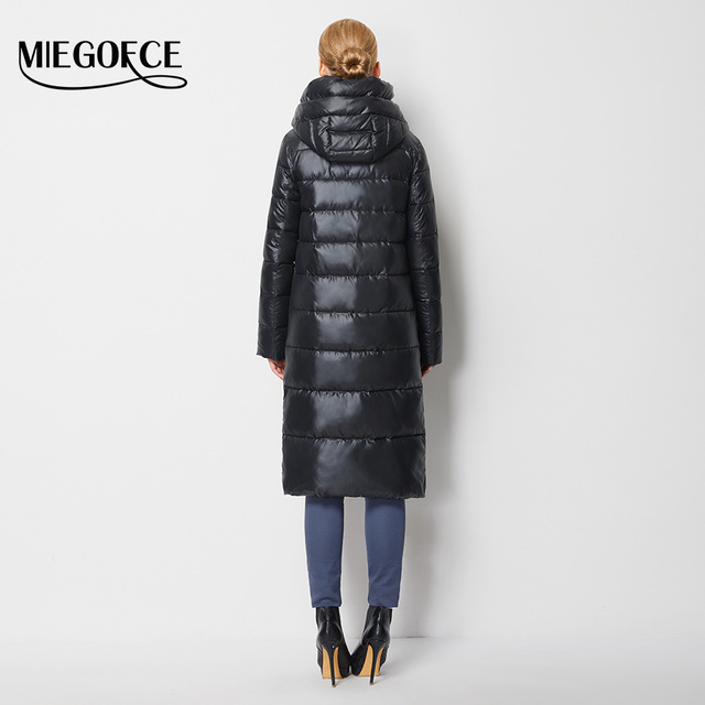 Fashionable Coat Jacket Women's Hooded Warm Parkas Bio Fluff Parka Coat Hight Quality Female MIEGOFCE New Winter Collection Hot  3