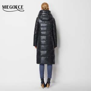 Image 4 - MIEGOFCE 2020 유행 코트 자 켓 여성 두건 된 따뜻한 파 카 바이오 Fluff 파 카 코트 Hight 품질 여성 새 겨울 컬렉션