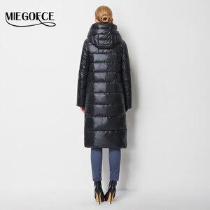 Image 4 - MIEGOFCE 2020 giacca da cappotto alla moda da donna con cappuccio caldo Parka Bio Fluff Parka Coat alta qualità femminile nuova collezione invernale