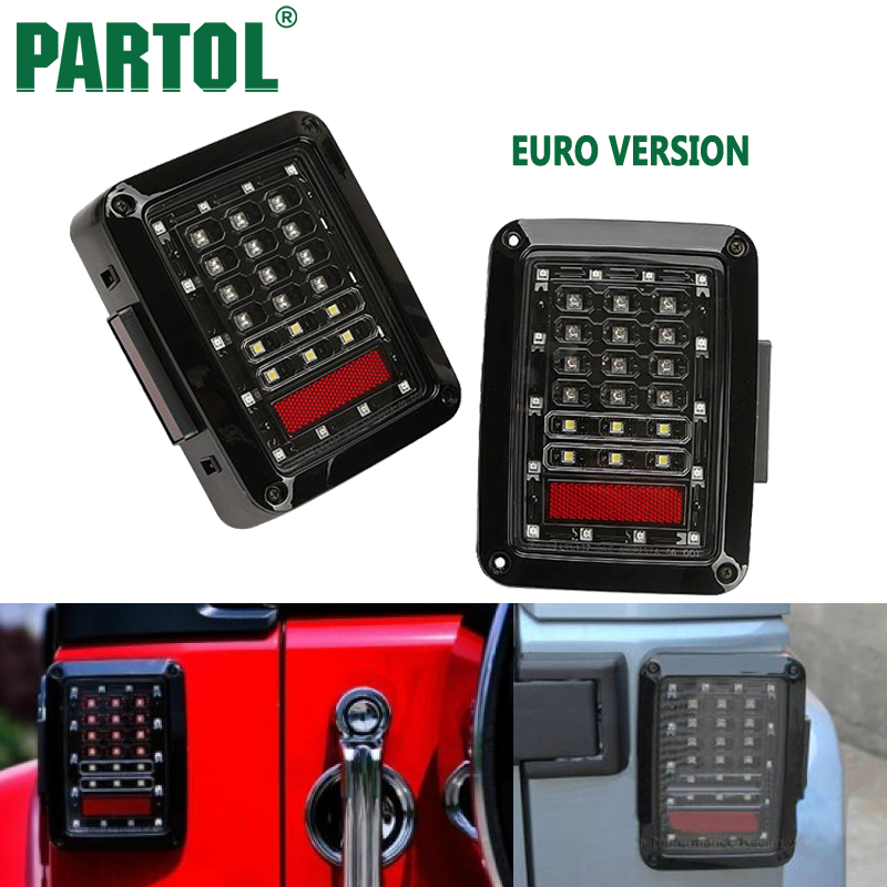 Partol Led Car Taillight Brake Light Reverse Signal Light Assembly Integrated Smoke For Jeep Wrangler JK 2007 2008 2009-2015 mukhzeer mohamad shahimin and kang nan khor integrated waveguide for biosensor application