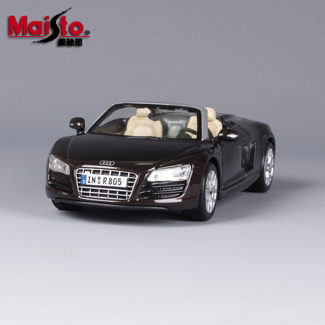 Maisto Alloy Car Models 1:24 Audi R8 Spyder V10 Plus Classic Car Modified  Simulation