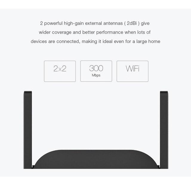 Xiaomi WiFi amplificateur WiFi répéteur Pro 300M extenseur 2.4G Wifi Signal Extender Roteador Wifi routeur amplificateur APP contrôle 3