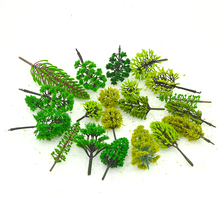 3-12CM HO N OO Scale ABS Model Tree Green Color Mixed Architectural Plastic Train Miniature Landscape Layout Materials 30pcs lot 2018 colorful ho n oo architectural scale model abs plastic green trees 3 10cm model train landscape tree layout