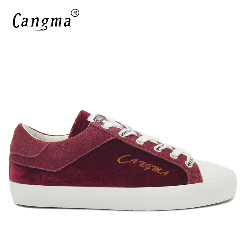 CANGMA Fashion Mens Luxury Brand Shoes Man Cow Suede Footwear Genuine Leather Sneakers Male Adult Casual Flats Wine Red Shoes blaibilton men casual shoes luxury brand genuine leather flat fashion designer breathable mens shoes casual male footwear sd6219