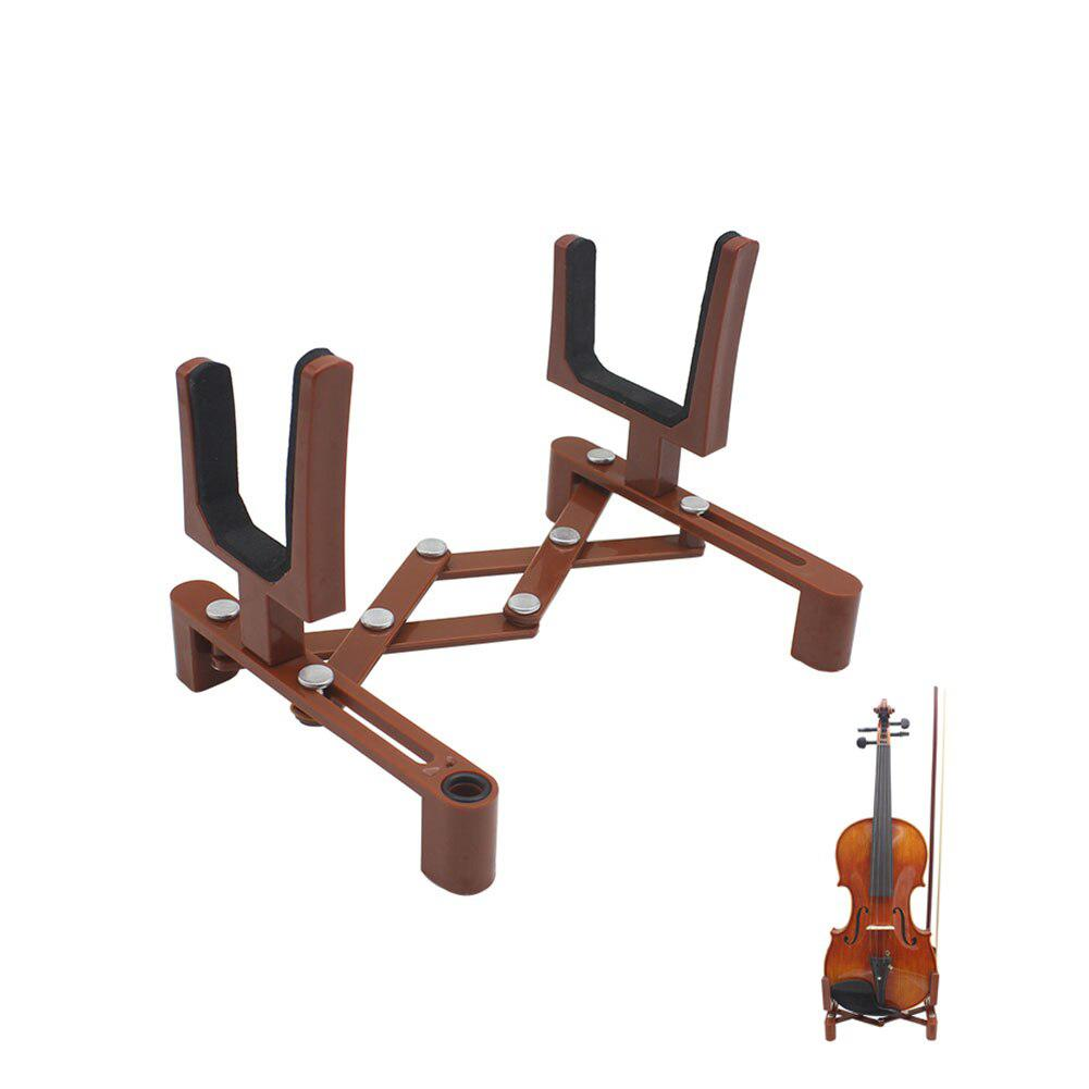 Dragonpad Portable Adjustable Foldable Musical Instrument Stand Violin Stands With Bow Holder