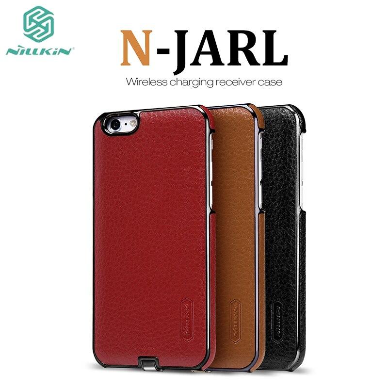 imágenes para Para el iphone 6 Caso de Nillkin N-JARL receptor cargador inalámbrico para el iphone 6 S cubierta de la energía qi de carga del Transmisor receptor