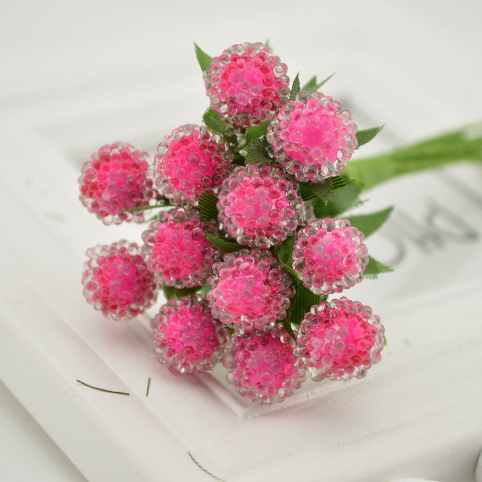 12 pcs Artificial Flowers Strawberry Bouquet For Home Party Wedding ...