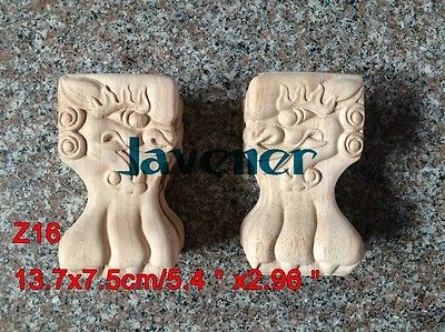 Z16 -13.7*7.5cm Wood Carved Onlay Applique Carpenter Decal Wood Working Carpenter Leg Table Cabinet
