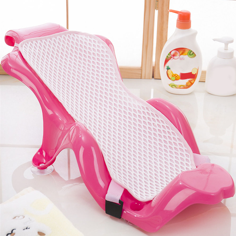 Baby Care Adjustable Infant Shower Bath Bathing Bathtub Non-slip Baby Bath Net Safety Security Seat Support Hight Quality image