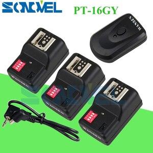 Image 1 - WanSen PT 16GY 16 Kênh Wireless Flash Trigger Transmitter SET với 3 Receivers cho Canon Nikon Pentax Olympus Yongnuo Sigma