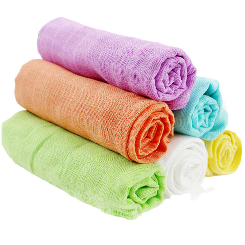 10 Pieces Muslin Baby Nappy 60*60 Cm 100% Cotton Reusable Newborn Diapers Baby Repeated Use Gauze Cloth Nappy
