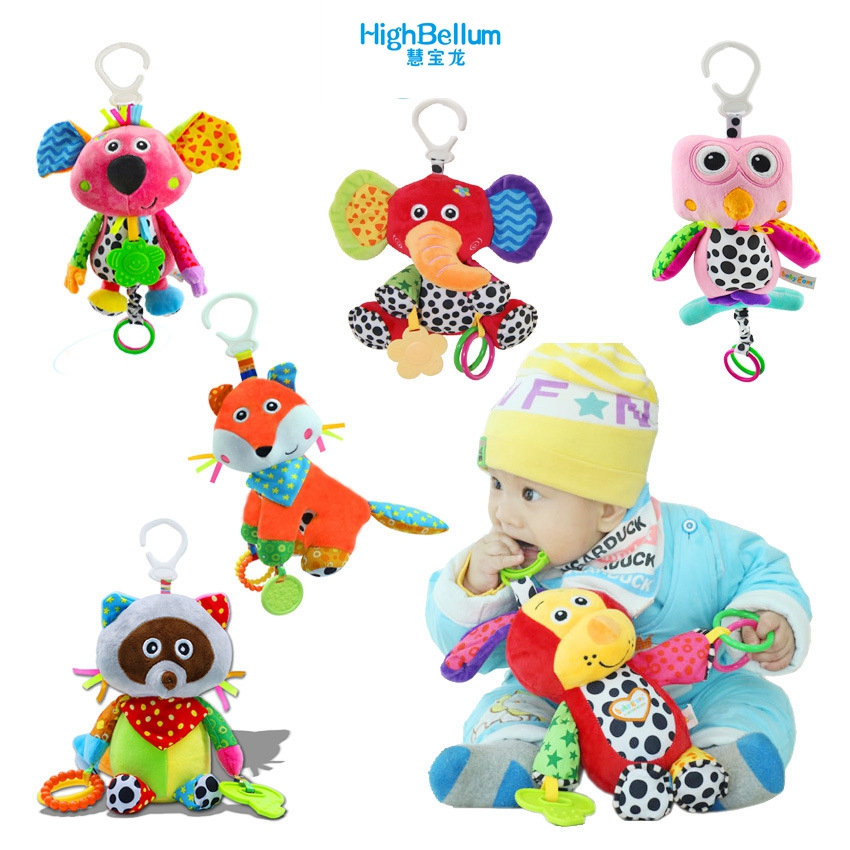 Baby Kids Plush Rattle Toys Կրթական Երաժշտական - Խաղալիքներ նորածինների համար - Լուսանկար 1