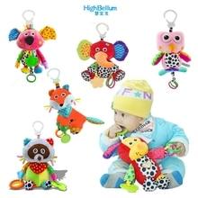 बेबी किड्स प्लश रैटल खिलौने शैक्षिक संगीत सॉफ्ट सॉफ्ट बेबी टेदर बिस्तर स्टॉलर संगीत रैकून खिलौने लटकाना बेबी खिलौना उपहार