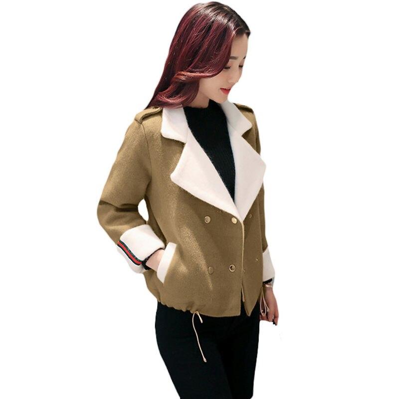 2017 Neue Frühling Herbst Frauen Kurze Jacken Wolle Mantel Weibliche Mode Koreanische Dünne War Dünn Woll Mantel Mädchen Oberbekleidung L682