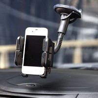 Hypersonic Car Adjustable Smart Mobile Cell Phone Holder Car Window Mount Holder Long For MP3 MP4