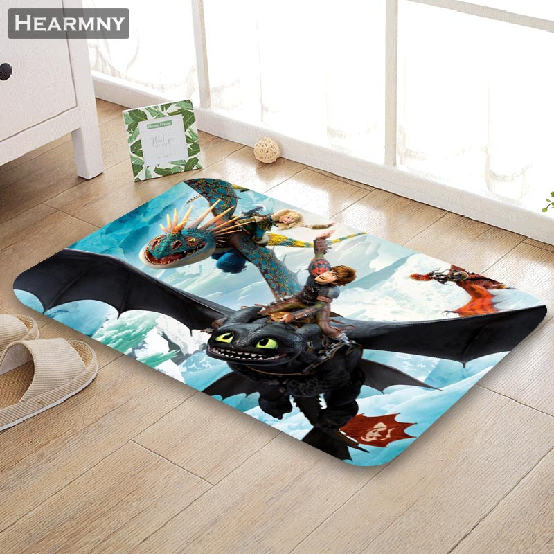 New Arrival Doormat How To Train Your Dragon Home Mat Machine Made Anti Slip Carpet Living Room/Hallway Bath Mat For Kids