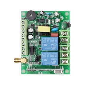 Image 2 - 220 V 10A 2CH Motor Uzaktan Kumanda Anahtarı Motor Ileri Ters Yukarı Aşağı Durdurma Kapı Pencere Perde Kablosuz TX RX sınırlı Anahtar