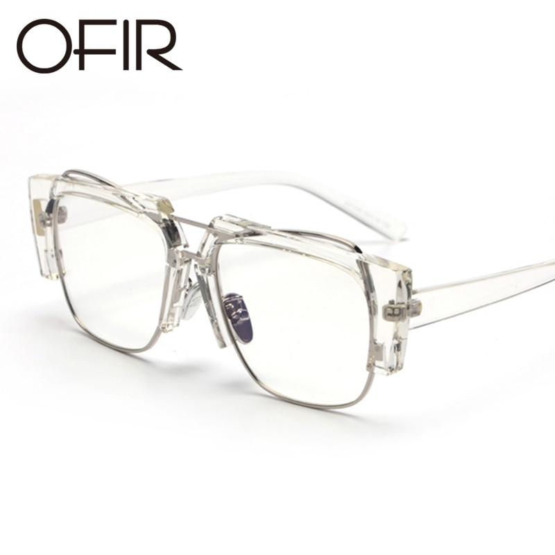 OFIR New Sunglasses TR90 Flat Glasse Square Myopia Glasses Frame Male Female Common Eyewear Frame Fashion Frame UV400 ZZ-69