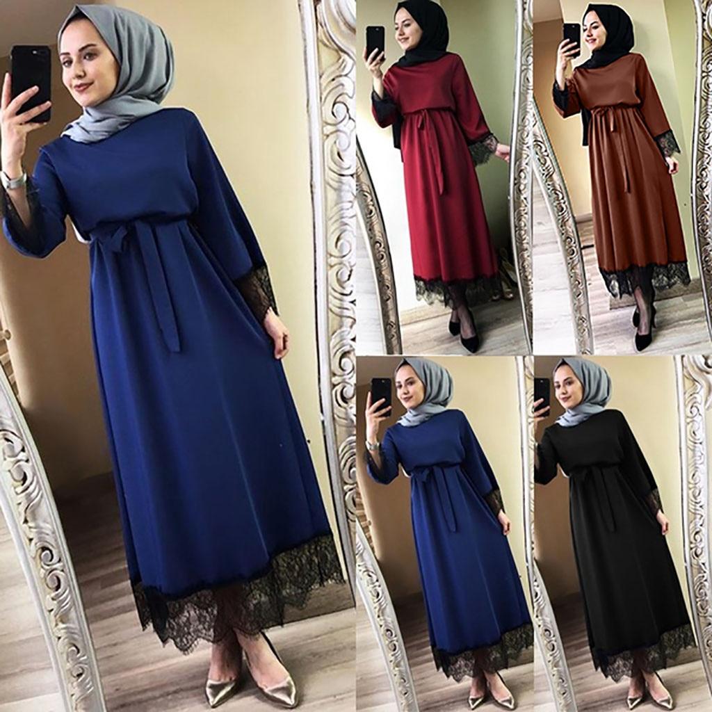 a76edc6b32f9d Women Muslim Long Robe Tunic Abaya Dubai caftan marocain Maxi Dress Turkish  Kaftan islamic clothing ...
