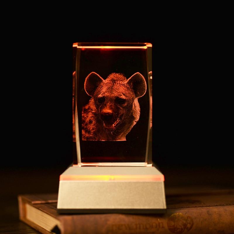 Yenilik Hediyeler Hayvan Leopar 3D Kristal Gece Lambası oturma - Gece Lambası - Fotoğraf 5