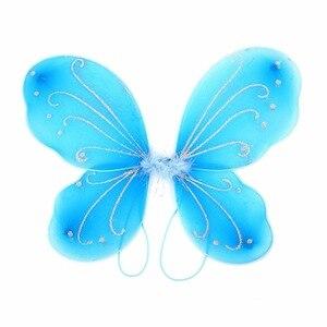 Image 2 - 42X31 センチメートルエルフ妖精の羽衣装翼蝶の羽供給衣装女の子クリスマスドレスアップパーティーコスプレ小道具妖精の羽