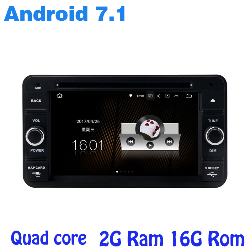 Quad core Android 7.1 car radio gps DVD player for suzuki Jimny 2007-2015 with 2G RAM wifi 4G USB RDS audio stereo bluetooth