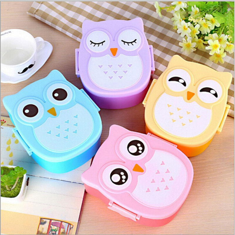 Cartoon Owl Dinnerware Sets Bento Lunch Food Fruit Storage plastic Container Handle Picnic Container High Quality Singel Layer -in Dinnerware Sets from Home ...  sc 1 st  AliExpress.com & Cartoon Owl Dinnerware Sets Bento Lunch Food Fruit Storage plastic ...